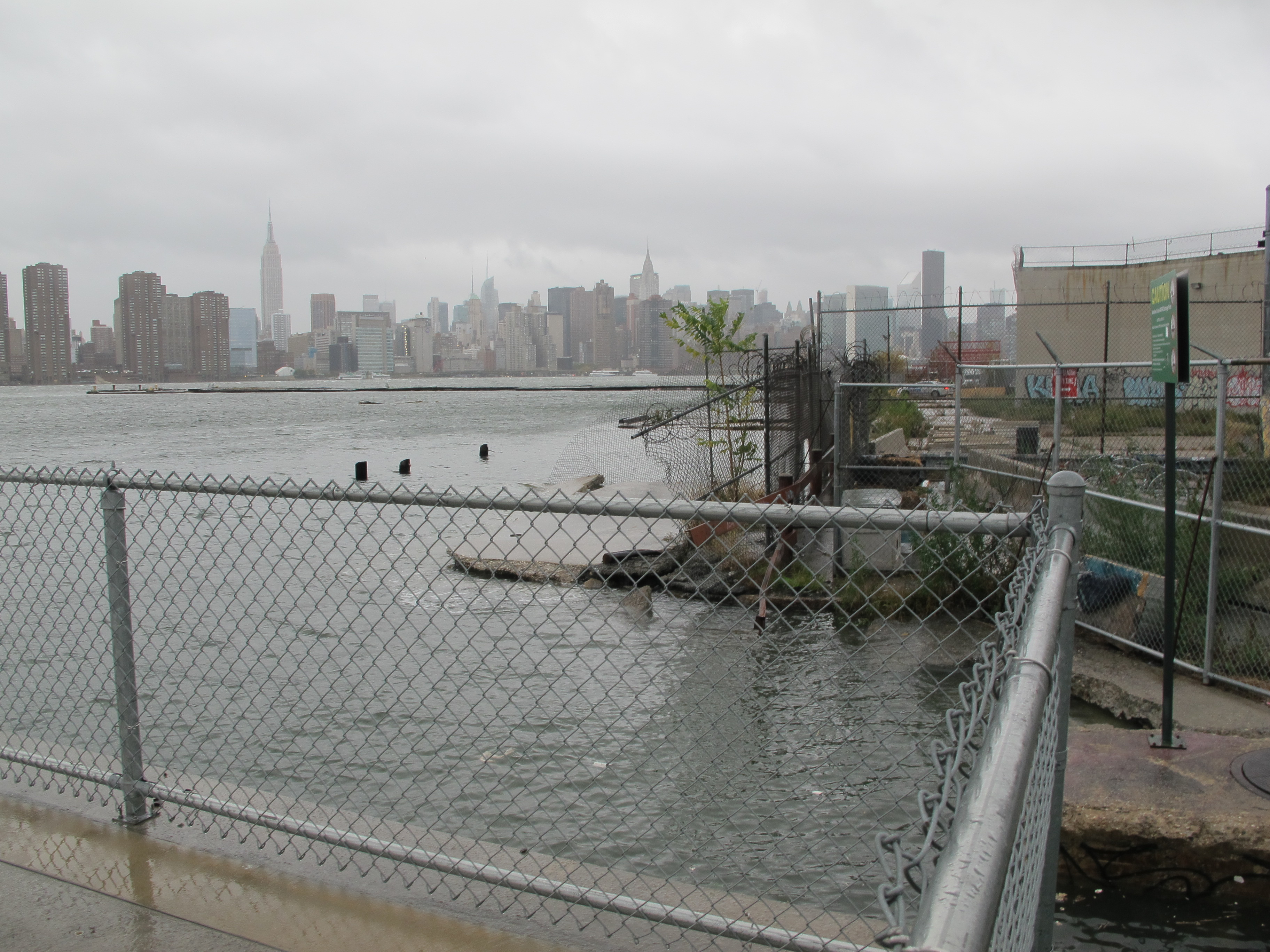 Hurricane Sandy at India Street